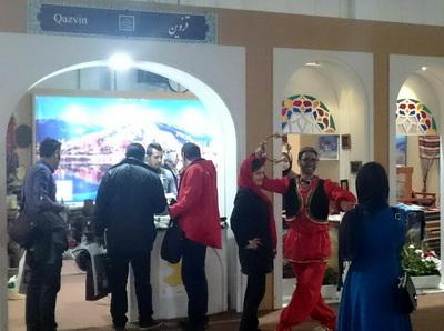 حضورفعال استان قزوین در دوازدهمین نمایشگاه بین المللی گردشگری و صنایع وابسته تهران