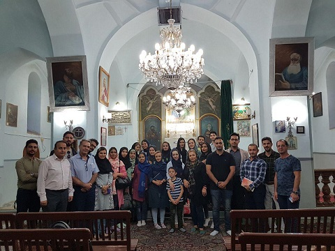بازدید از کلیسای هریپسیمه شهر قزوین
